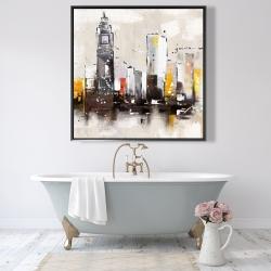 Framed 48 x 48 - Artistic cityscape
