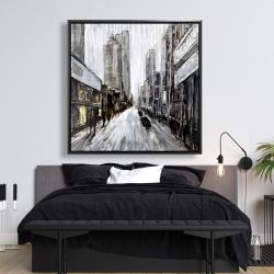 Framed 48 x 48 - Gray gloomy street