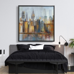 Framed 48 x 48 - Cityscape with chrysler building
