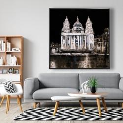 Framed 48 x 48 - White monument on a dark background