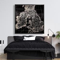 Framed 48 x 48 - Roman britain maps