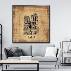 Framed 48 x 48 - Notre-dame de paris illustration