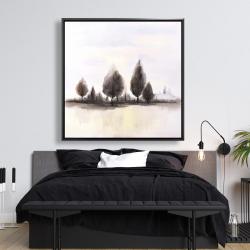 Framed 48 x 48 - Landscape of trees