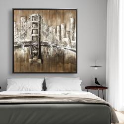 Framed 48 x 48 - Aged finish golden gate