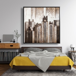 Framed 48 x 48 - Square city