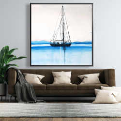 Framed 48 x 48 - Sailboat on a calm water