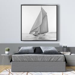 Framed 48 x 48 - Vintage sailing ship