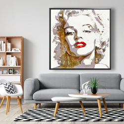 Framed 48 x 48 - Marilyn monroe with typography