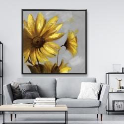 Framed 48 x 48 - Mountain arnica flowers