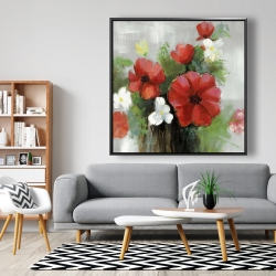 Framed 48 x 48 - Abstract wild flowers bundle