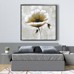 Framed 48 x 48 - Modern beige flower