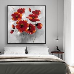 Framed 48 x 48 - Anemone flowers