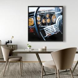 Framed 48 x 48 - Vintage car interior