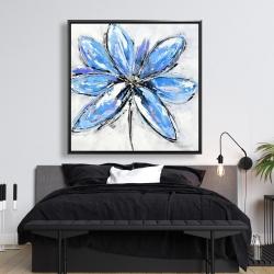 Framed 48 x 48 - Blue flower