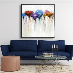 Framed 48 x 48 - Colorful flowers