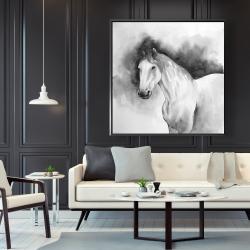 Framed 48 x 48 - Domino horse