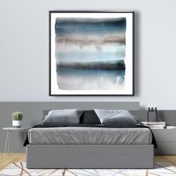 Framed 48 x 48 - Blue stripes