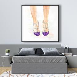 Framed 48 x 48 - Purple studded high heels