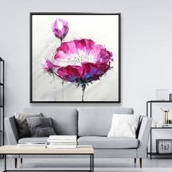 Framed 48 x 48 - Fuchsia wild flower
