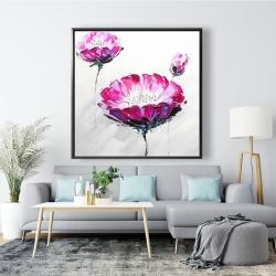 Framed 48 x 48 - Pink wild flowers