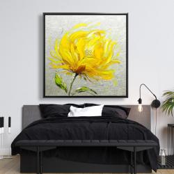 Framed 48 x 48 - Yellow fluffy flower