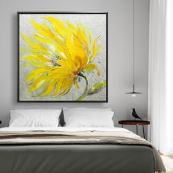 Framed 48 x 48 - Yellow flower