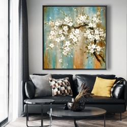 Framed 48 x 48 - Relaxing cherry blossoms