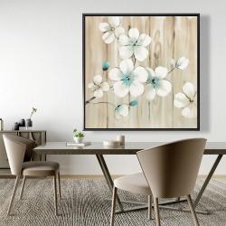 Framed 48 x 48 - Cherry blossom in white