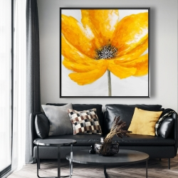 Framed 48 x 48 - Big yellow flower
