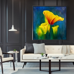 Framed 48 x 48 - Beautiful colorful flowers