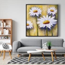 Framed 48 x 48 - Daisies at sun