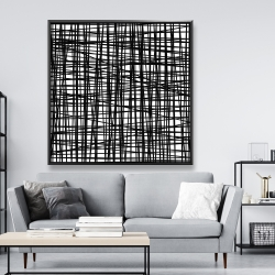 Framed 48 x 48 - Abstract small stripes