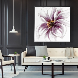 Framed 48 x 48 - Purple orchid