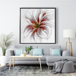 Framed 48 x 48 - Resplendent pink orchid