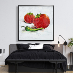 Framed 48 x 48 - Tomatoes with jalapeño