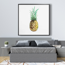 Framed 48 x 48 - Watercolor pineapple