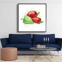 Framed 48 x 48 - Bell peppers