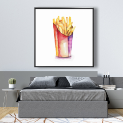 Framed 48 x 48 - Watercolor french fries