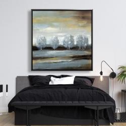 Framed 48 x 48 - Grey landscape