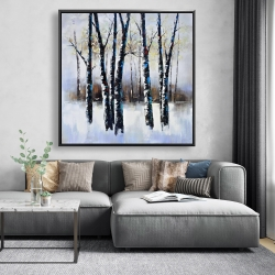 Framed 48 x 48 - Frosted trees