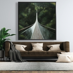 Framed 48 x 48 - Steep bridge