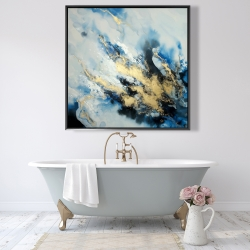 Framed 48 x 48 - Blue marble