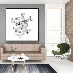 Framed 48 x 48 - Grayish bubbles
