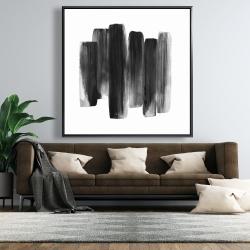 Framed 48 x 48 - Black shapes