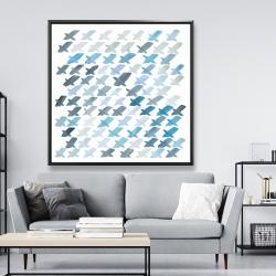 Framed 48 x 48 - X pattern