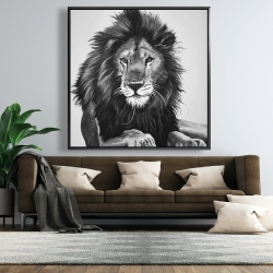 Framed 48 x 48 - The lion king
