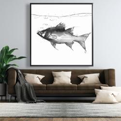 Framed 48 x 48 - Swimming fish
