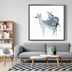Framed 48 x 48 - Blue fawns