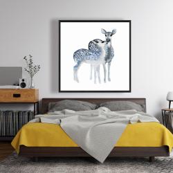 Framed 48 x 48 - Blue fawns love