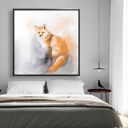 Framed 48 x 48 - Watercolor fox
